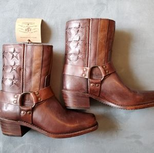 Frye Harness Americana 150th Anniversary Boots